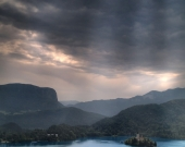 Storm at Bled Lake